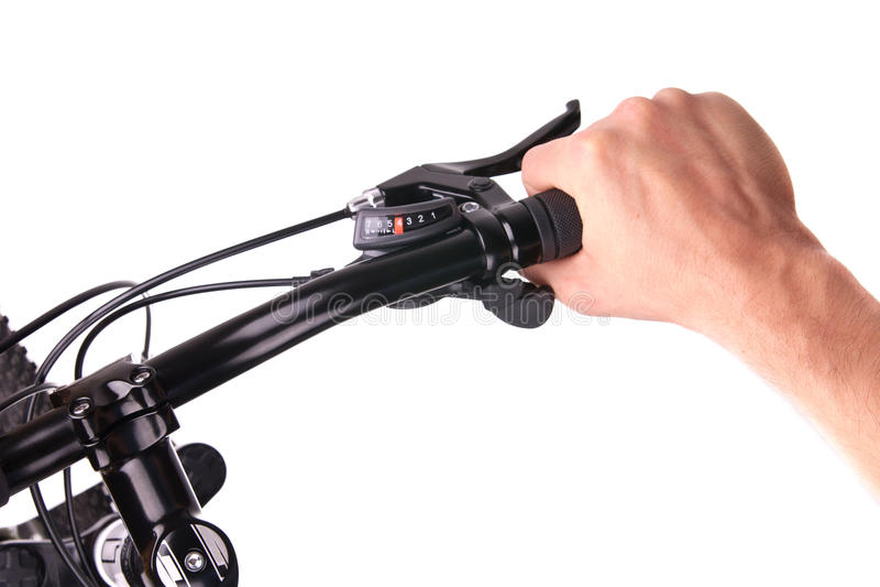 Handlebars bicykl fotografia stock