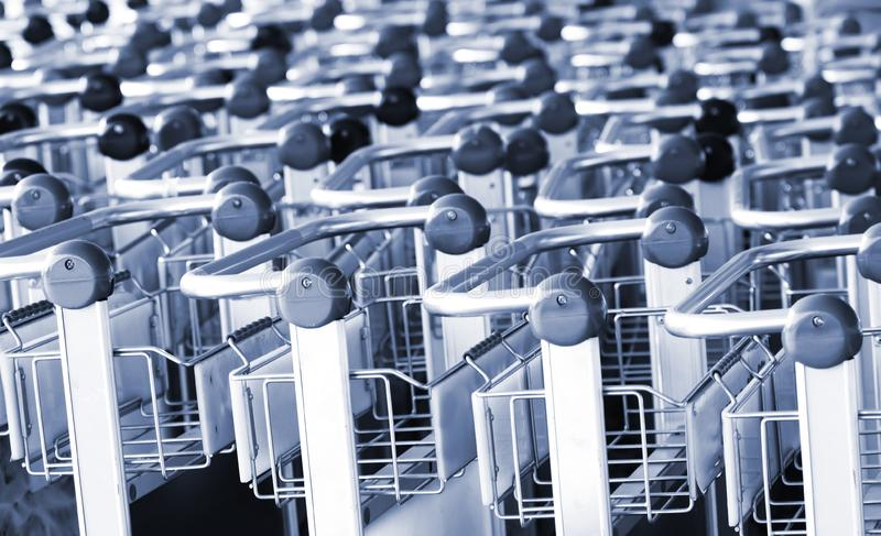 Handles of carts royalty free stock photography