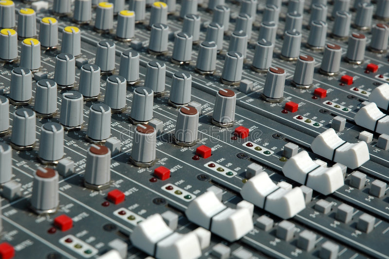 Handles of management of the sound processor royalty free stock image