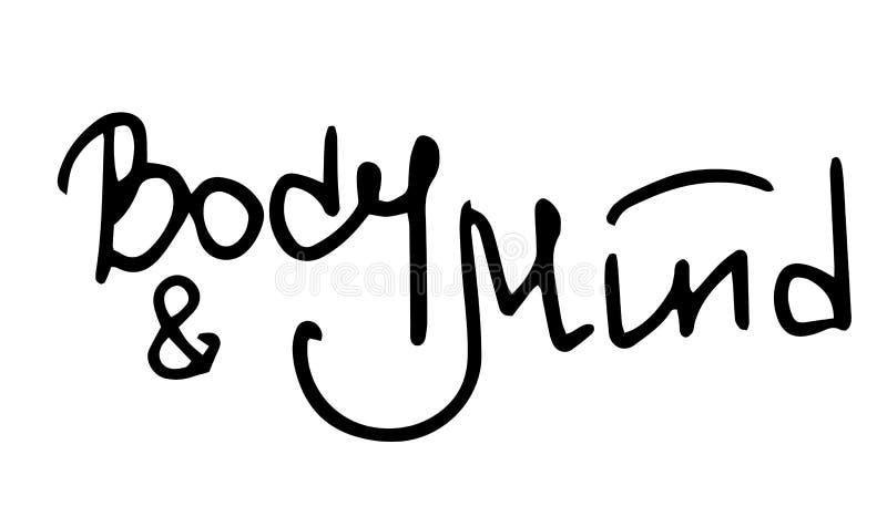 Handlettering kropp och mening royaltyfri illustrationer