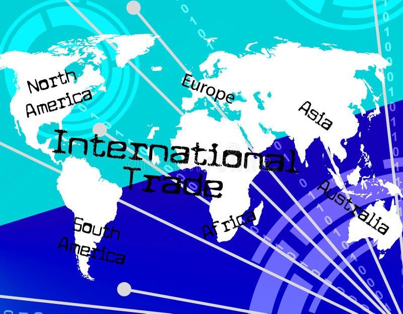 Handli Międzynarodowych przedstawienia Przez The Globe I import ilustracja wektor