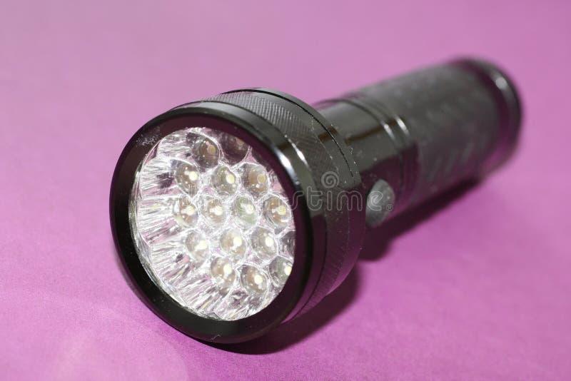 Handliche Fackel mit LED lizenzfreies stockbild