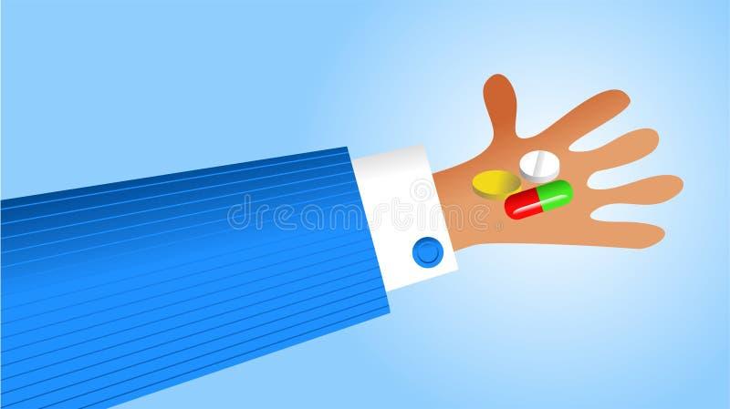 Handliche Medikation stock abbildung