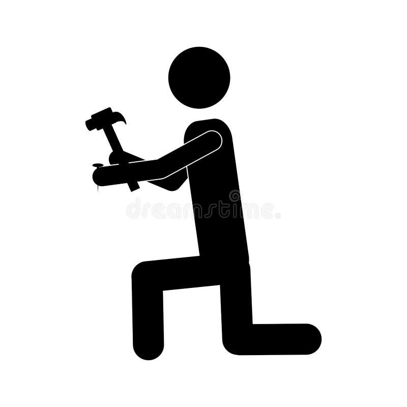 Handliches Mann- oder Ingenieurikonenbild vektor abbildung