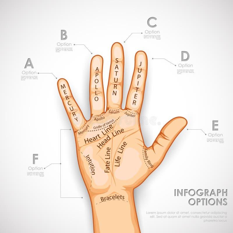 Handlijnkunde Infographics stock illustratie