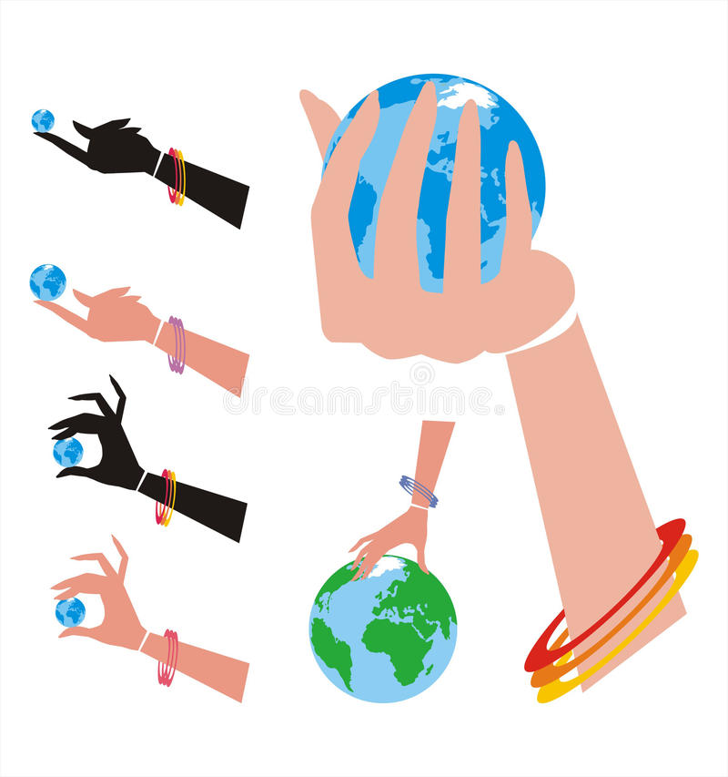 Download Handling the World One stock vector. Image of environment - 16404340