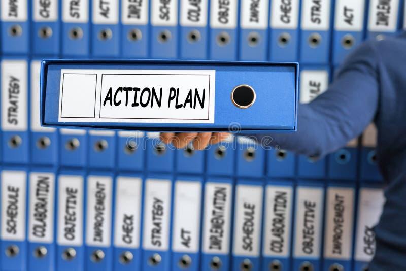 Handlingsplanbegrepp Planläggning för handlingsplanstrategivision fotografering för bildbyråer