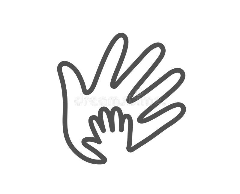 Handlinje symbol Tecken för socialt ansvar vektor royaltyfri illustrationer