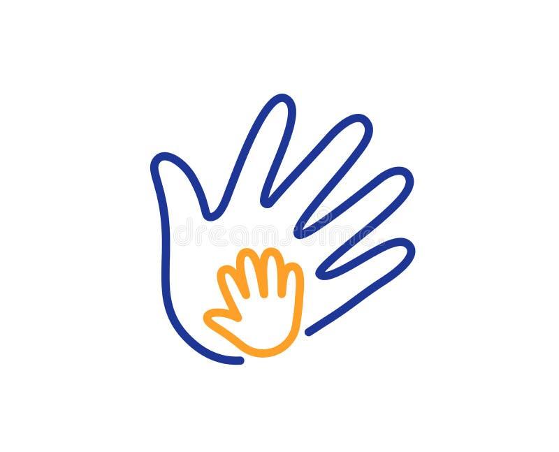 Handlinje symbol Tecken för socialt ansvar vektor stock illustrationer