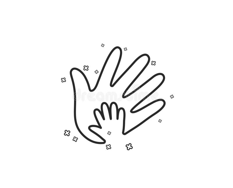 Handlinje symbol Tecken för socialt ansvar vektor vektor illustrationer