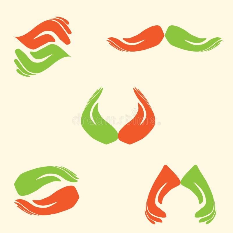 Handlogo stock illustrationer