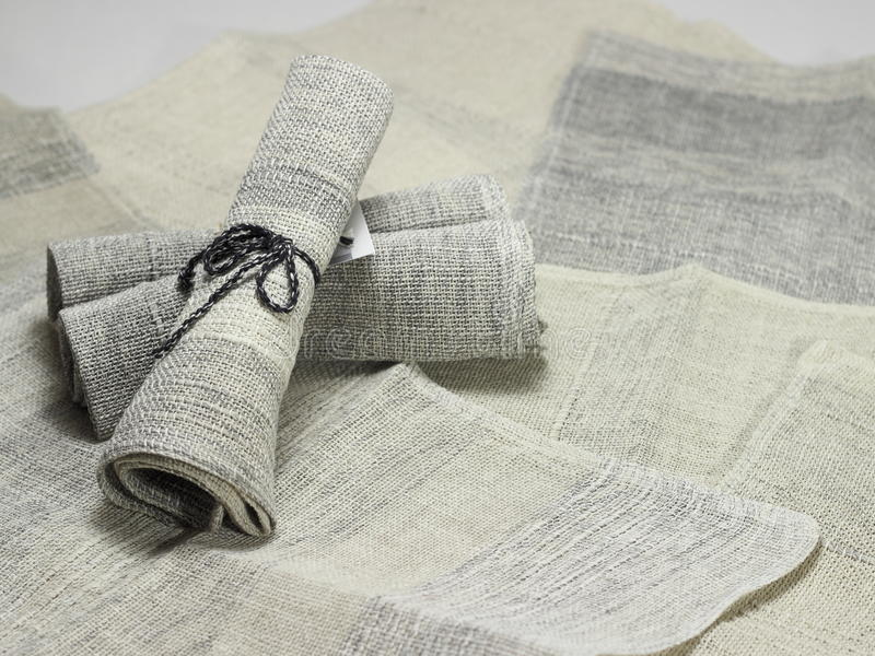 Handloom cotton napkins