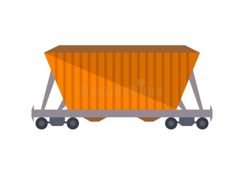 Handlowa kolejowa frachtowa furgon ikona ilustracja wektor