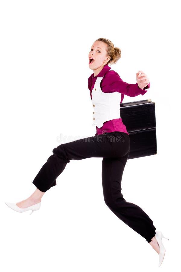 handlowa szczęśliwa kobieta obrazy stock