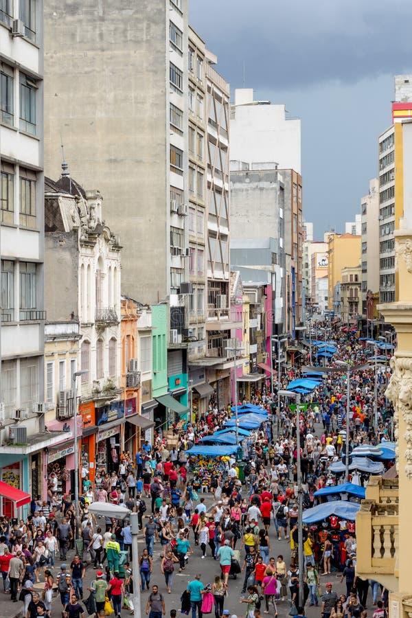 Handlowa ulica w Sao Paulo obraz royalty free