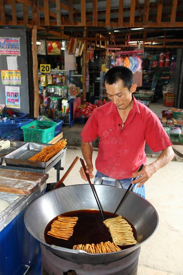 Handlowego dłoniaka Tajlandzki rodzimy deser obraz stock