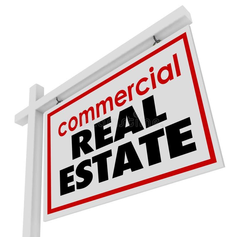Handlowego Real Estate znaka budynku Biurowy biznes dla sprzedaży royalty ilustracja