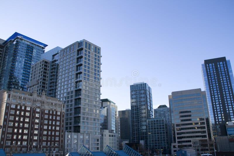 Handlowi budynki w w centrum Seattle zdjęcia royalty free
