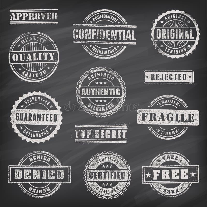Handlowi Grunge wektoru znaczki royalty ilustracja