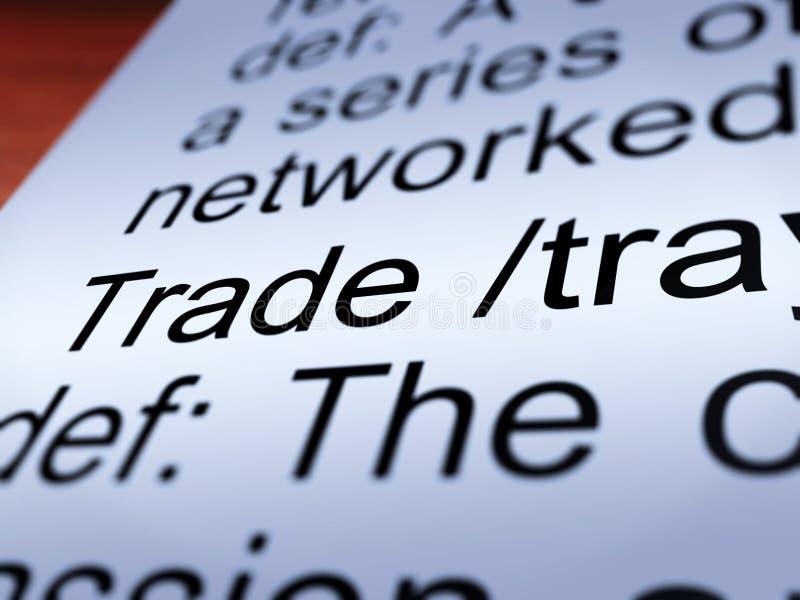 Handlowy definici zbliżenia seansu import I eksport ilustracji
