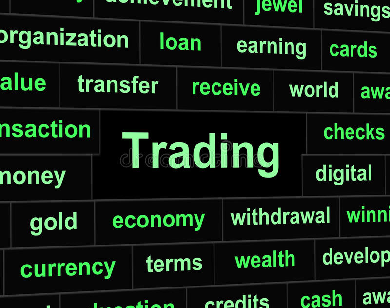 Handlowy handel Reprezentuje handlu eksport I reklamę ilustracji