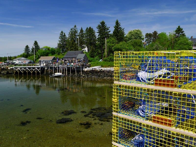 Handlowy homar łapać w pułapkę gotowego pracować obraz stock