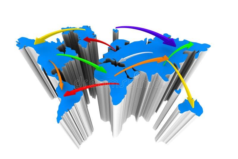 Handlowy networking ilustracja wektor