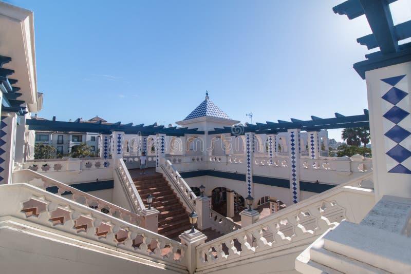 Handlowy plac w Isla Del Morał, Hiszpania fotografia royalty free