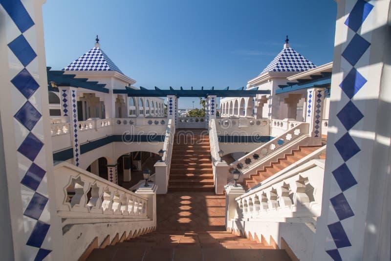 Handlowy plac w Isla Del Morał, Hiszpania obraz royalty free