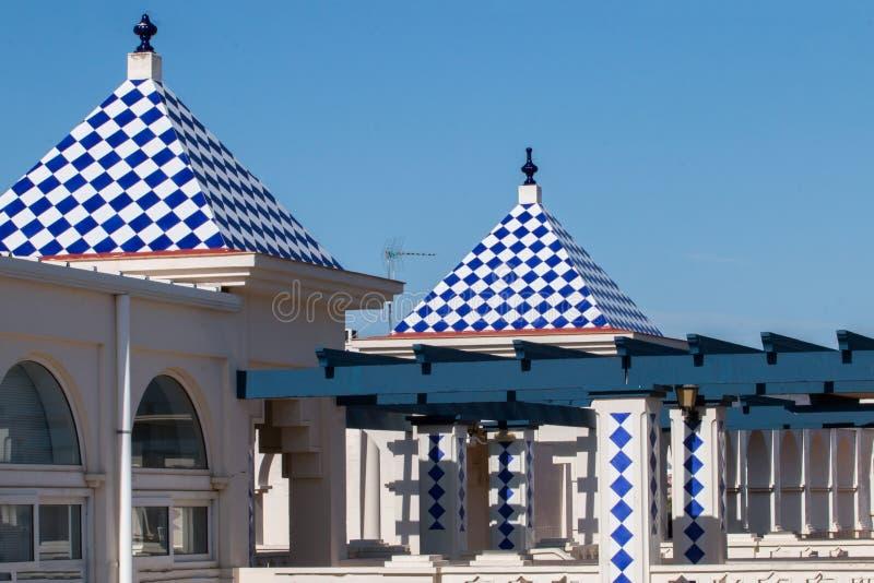 Handlowy plac w Isla Del Morał, Hiszpania obrazy stock