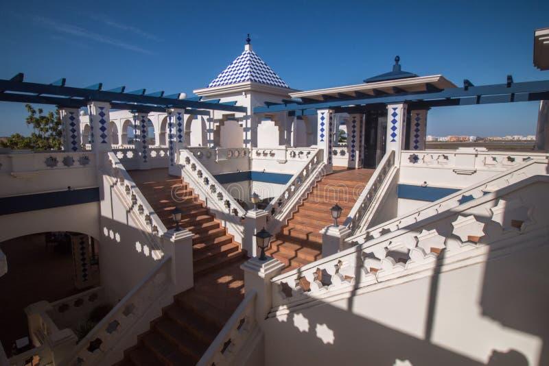 Handlowy plac w Isla Del Morał, Hiszpania zdjęcie royalty free