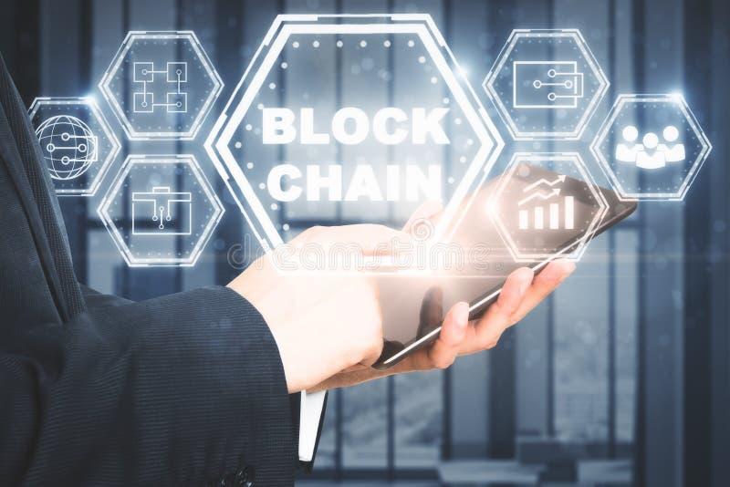 Handlu elektronicznego, cryptocurrency i ethereum pojęcie, obrazy stock