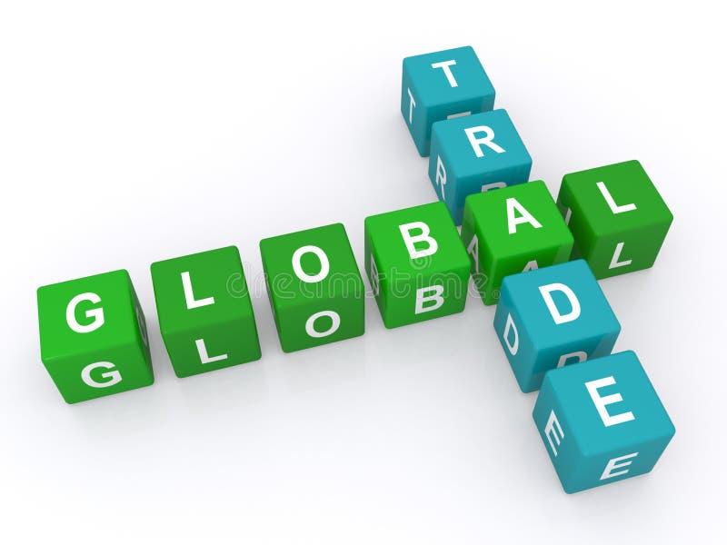 Handlu globalny znak ilustracja wektor