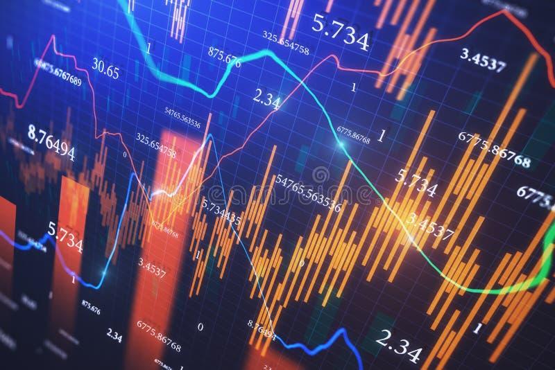 Handlu i gospodarki tapeta zdjęcie stock