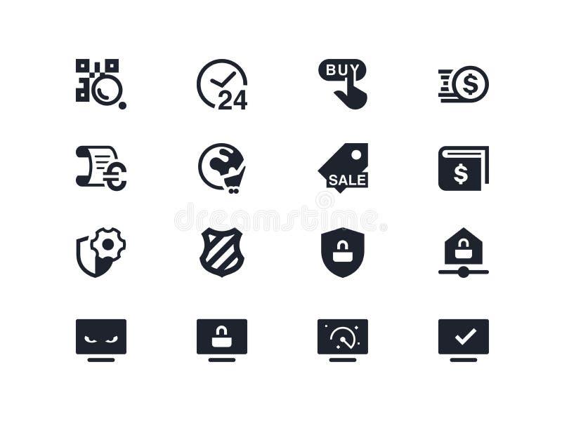 Handlu i ochrony ikony Lyra serie ilustracja wektor