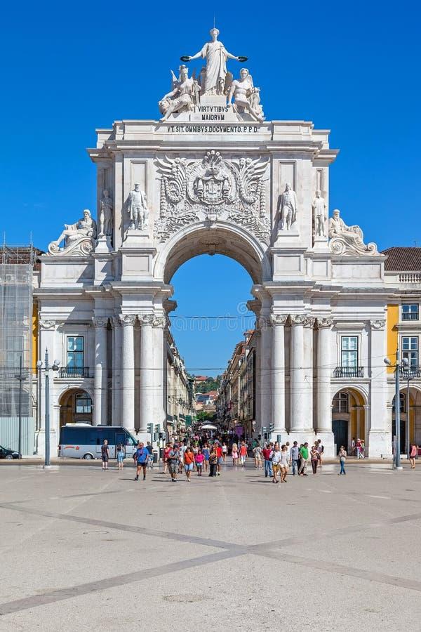 Handlu kwadrat, Praca robi Comercio lub Terreiro robi Paco zdjęcie royalty free