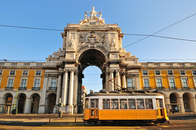 handlu Lisbon kwadrat zdjęcia royalty free