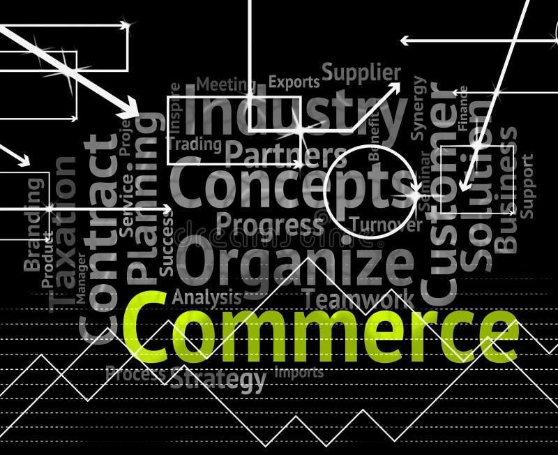 Handlu słowo Wskazuje Eksportowego kupienie I import ilustracja wektor