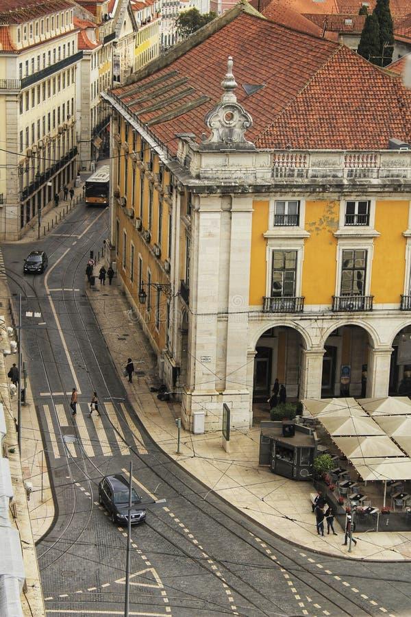Handlu Tagus i kwadrata Rzeczny widok od Augusta Wysklepia fotografia stock