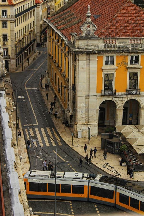 Handlu Tagus i kwadrata Rzeczny widok od Augusta Wysklepia zdjęcie royalty free