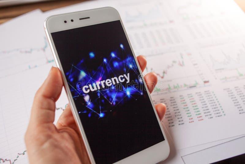 Handluj?cy na wymiana walut, poj?cie Raporty i statystyki, lotno?? waluta zdjęcie stock
