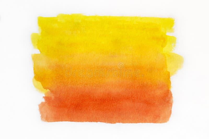 Handmålad gul vattenfärgsbakgrund arkivbilder