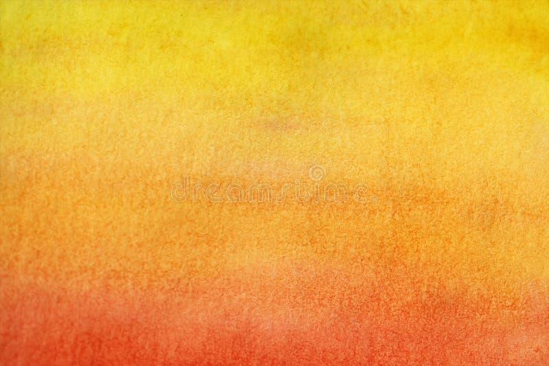 Handmålad gul vattenfärgsbakgrund royaltyfria bilder