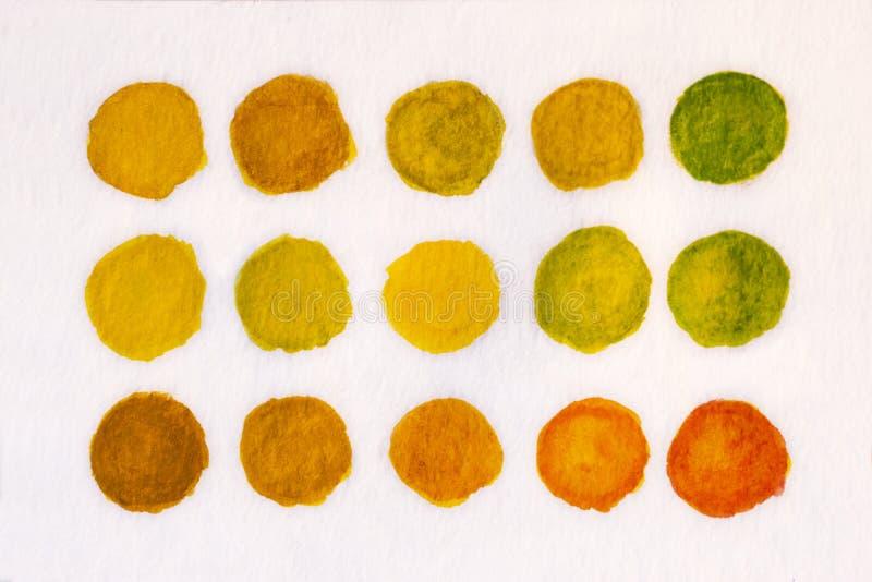 Handmålad gul vattenfärgsbakgrund royaltyfri fotografi