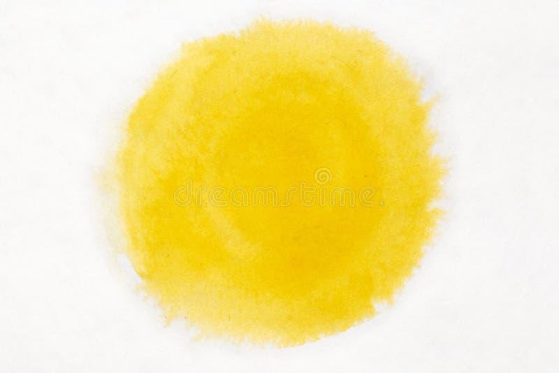 Handmålad gul vattenfärgsbakgrund arkivfoton