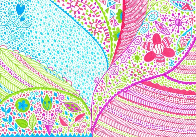 Handmade абстрактным войлок-подсказка покрашенная художественным произведением бесплатная иллюстрация