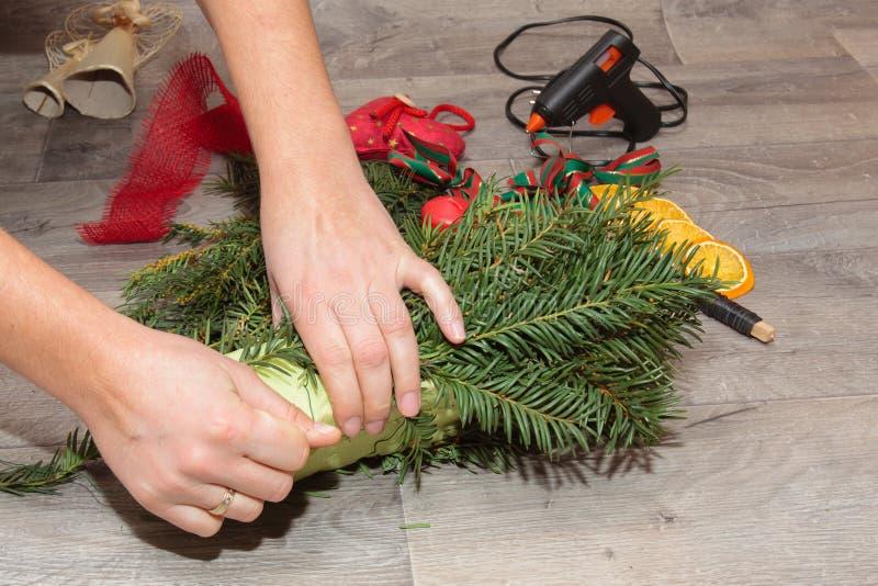 Handmade венки рождества продукции стоковые фото