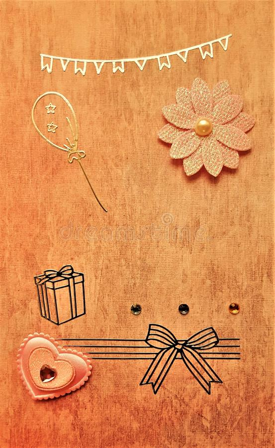 Handmade винтажное смотря изображение стоковое изображение
