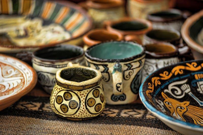 Handmade глиняные горшки стоковые изображения