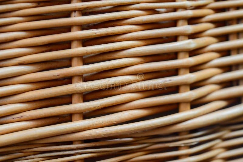 Handmade деталь плетеной корзины текстурированная предпосылкой стоковая фотография rf
